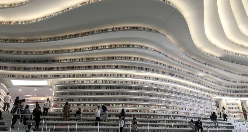 Dünyanın En Fütüristik Kütüphanesi Hizmete Açıldı