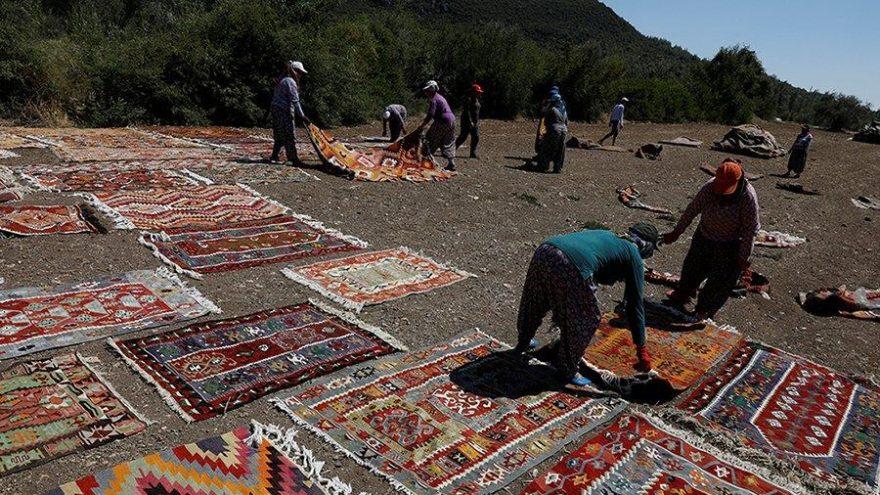 Türkiye'nin en önemli kültür değerlerinden Döşemealtı Halıları böyle hazırlanıyor