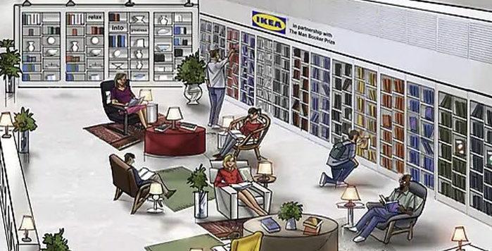 IKEA ve Man Booker işbirliğiyle bir okuma odası