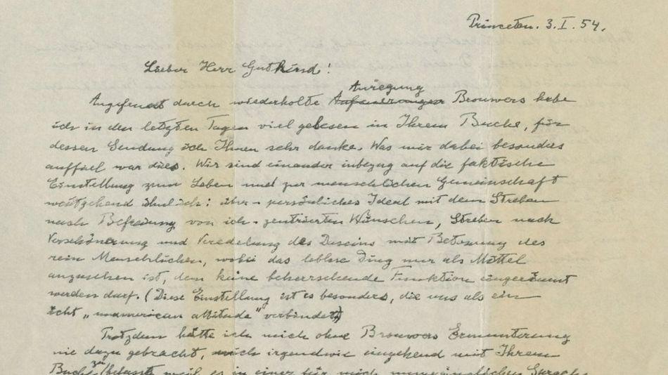 Albert Einstein'ın 'Tanrı mektubu' 2,9 milyon dolara satıldı